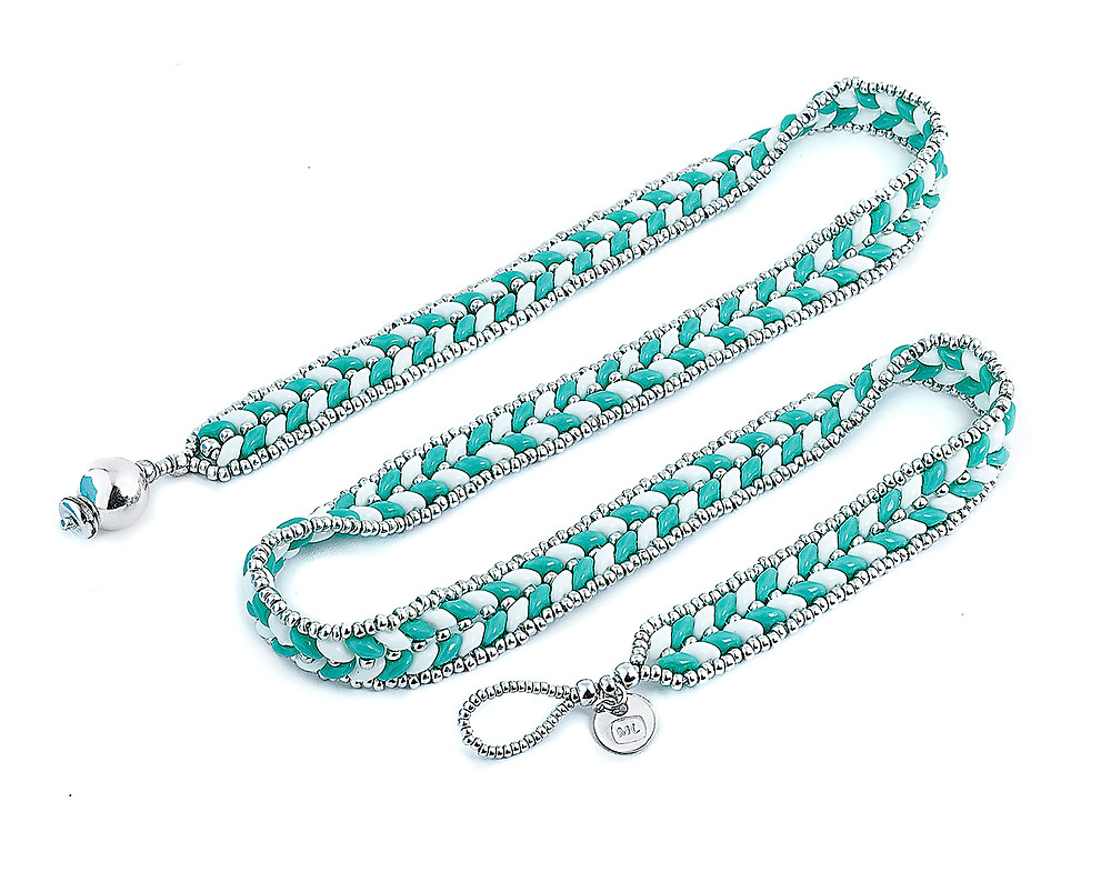 ML Herringbone Wrap Bracelet—Turquoise by Michelle Leonardo Design