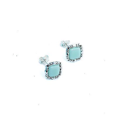 Jewelry, Earrings, Silver, Mint, Pale Green, Sparkle, Stud, ML, Michelle Leonardo Design, Stella Stud Earrings