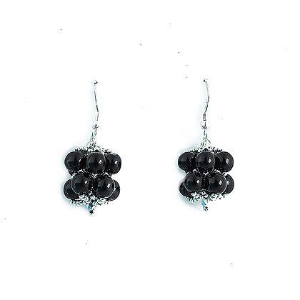 Jewelry, Earrings, Gift, Handmade, Silver, Black, Sterling Silver, Hanalei, ML, Michelle Leonardo Design, Hanalei Earring