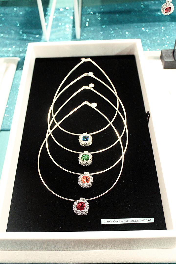 Michelle Leonardo Design Launch Party – Classic Cushion Cut Necklaces