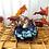 Thumbnail: Cobalt and Gold Squat Pumpkin