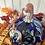 Thumbnail: Large Cobalt and Gold Speckle Pumpkin