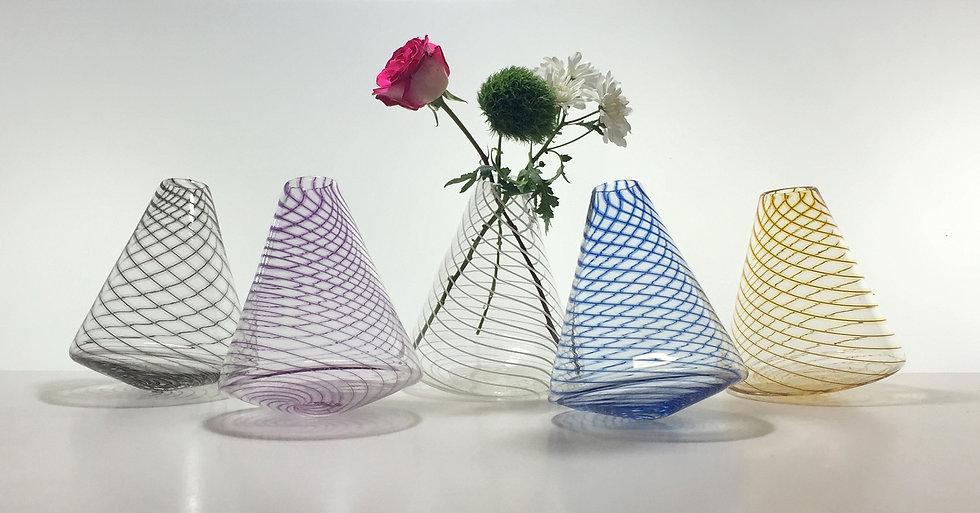 Lace Wobble Vases