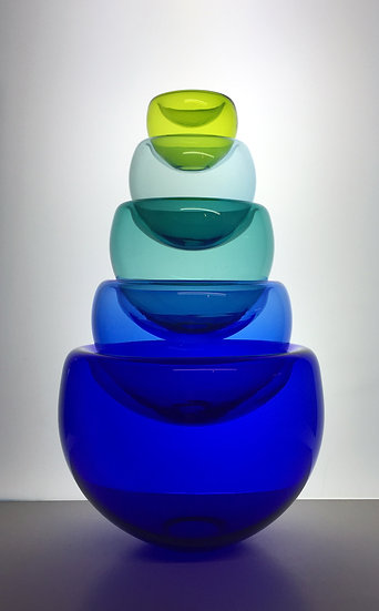 Color Theory Nesting Bowls (set of 5) - click for more color options