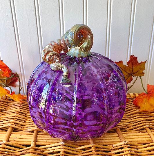 Large Purple Speckle Pumpkin