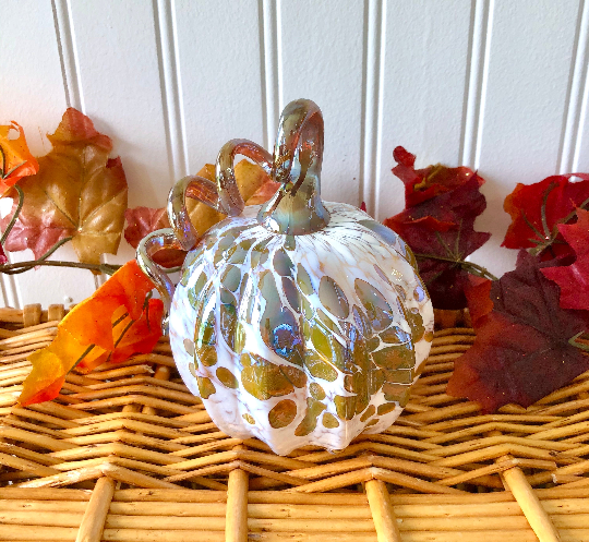 Gold and White Pumpkin