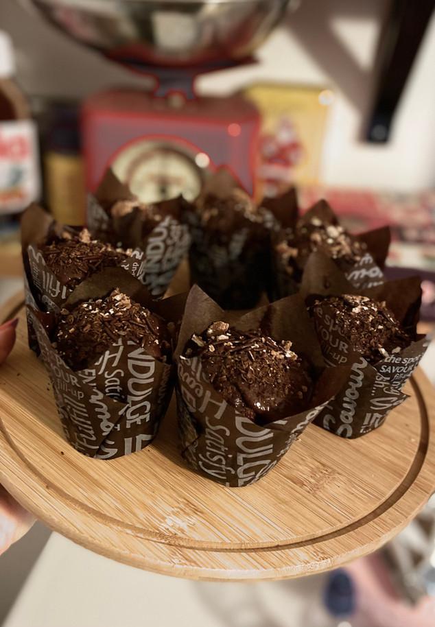 מאפינס שוקולד מריר נימוחים ואווריריים מקמח כוסמין