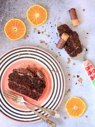 עוגת שוקולד תפוז מפתיעה מקמח כוסמין