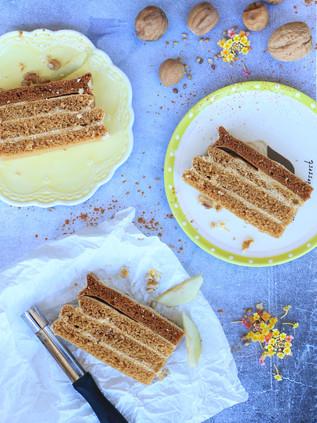 עוגת פסטילה רוסית מתפוח וחלבונים ללא קמח