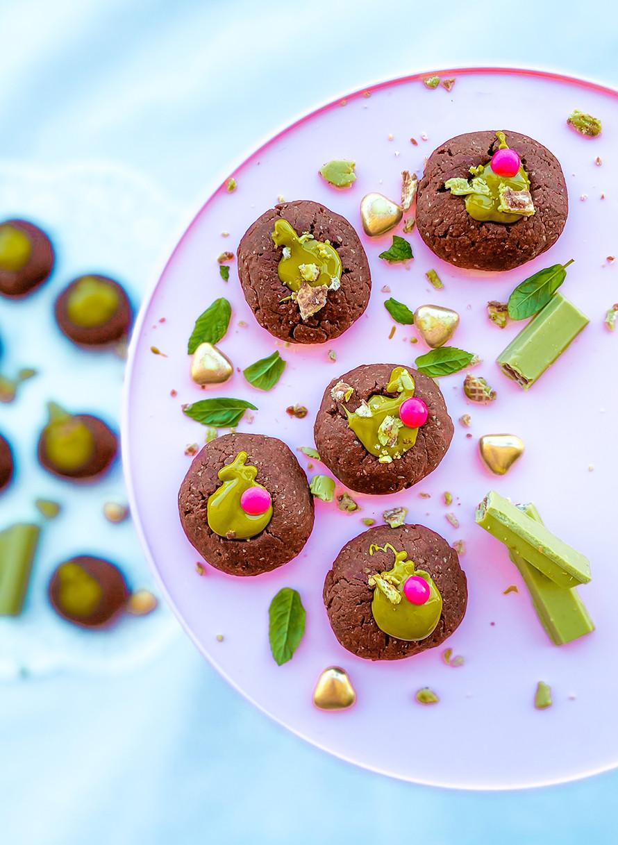 עוגיות פיסטוק, עוגיות שוקולד, עוגיות כוסמין בריאות