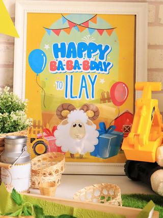 הפקת אירוע יום הולדת שנתיים בסגנון חווה וכבשים