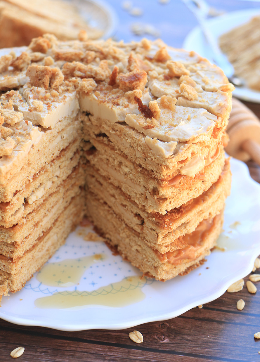 עוגת דבש וחמאת בוטנים לראש השנה