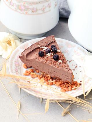 פאי מוס שוקולד טבעוני לשבועות
