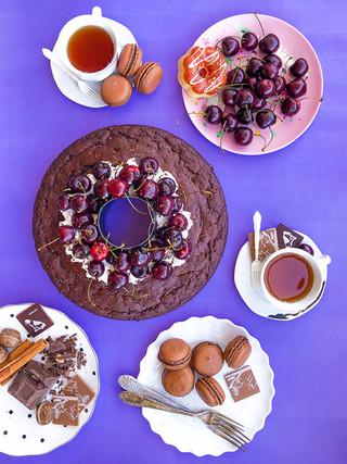 עוגת שוקולד וקישואים עם סירופ קוקוס