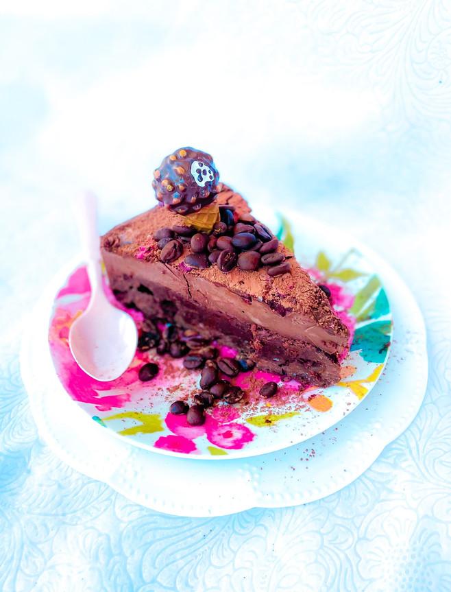 עוגת מוס שוקולד אספרסו טבעונית / ללא גלוטן