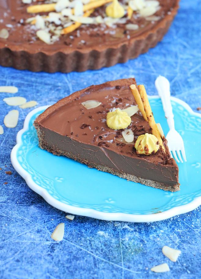 פאי שוקולד ללא גלוטן טבעוני