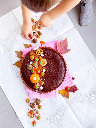פאי בראוניז שוקולד עם סוכר קוקוס וקמח כוסמין
