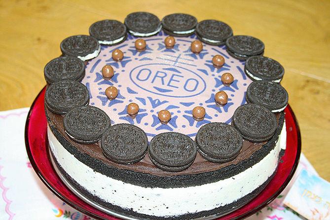 עוגת גבינה אוריאו