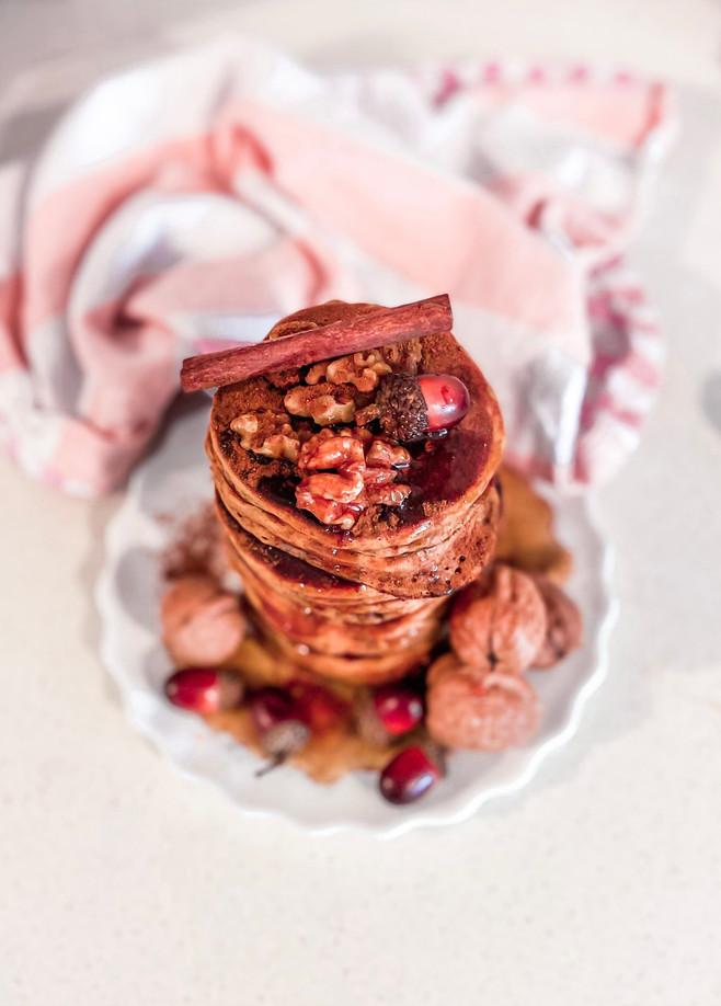 פנקייק בטטה תבלינים לבוקר חורפי טעים ובריאגם בגרסה טבעונית