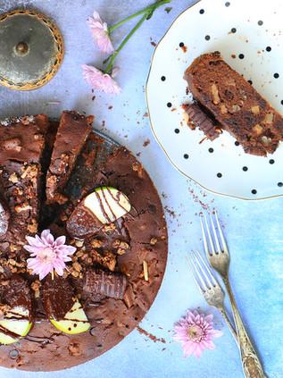 עוגת שוקולד מסאלה ותפוחים ללא גלוטן