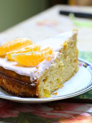 עוגת מנדרינות קיצית מקמח שקדים
