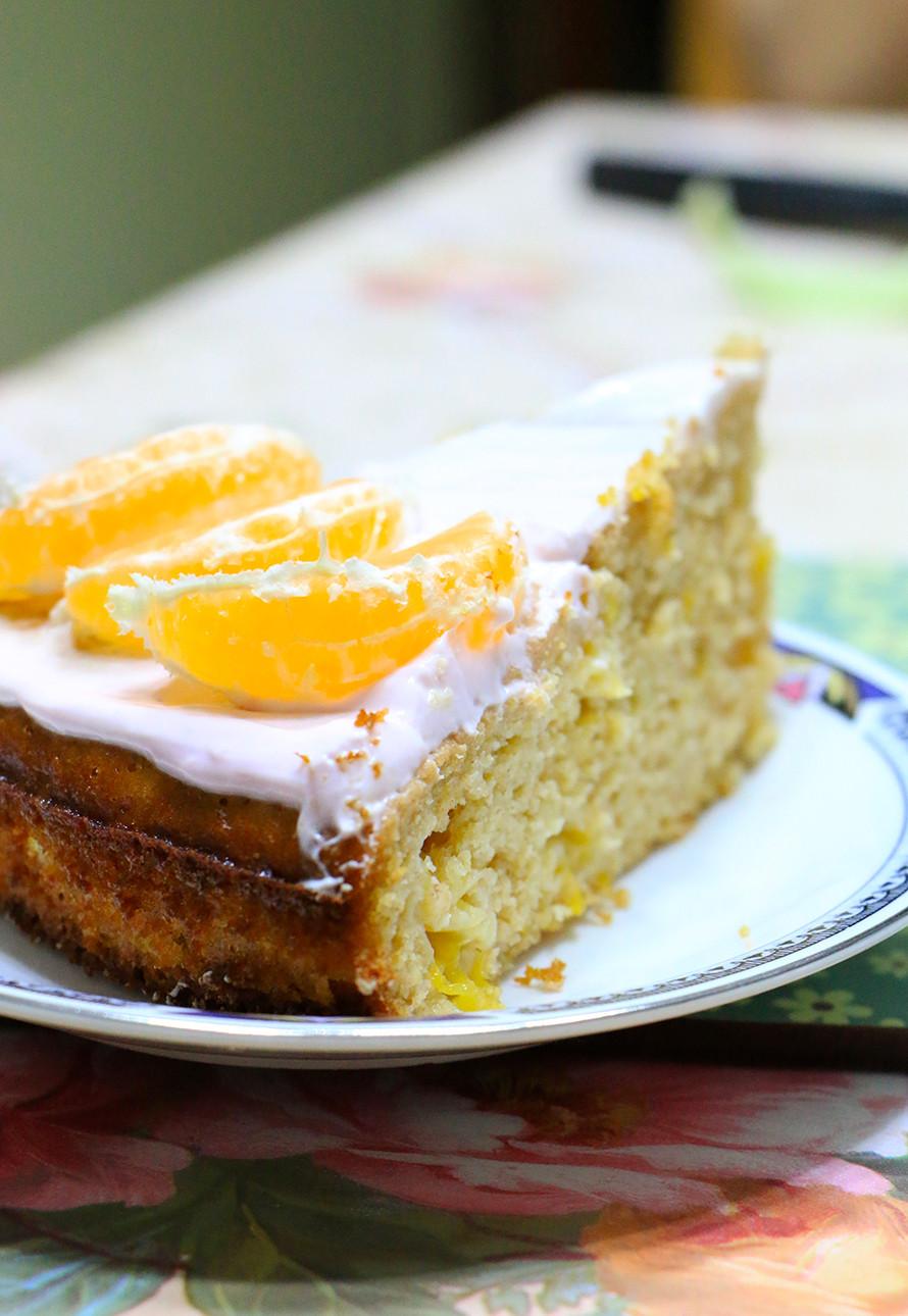 עוגה עם קלמנטינות בריאה מקמח כוסמין