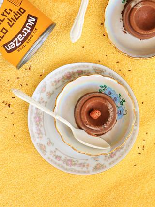 גלידת שוקולד מריר וקרם קוקוס