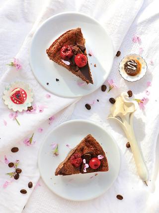 עוגת גבינה שוקולד ואספרסו מקמח כוסמין