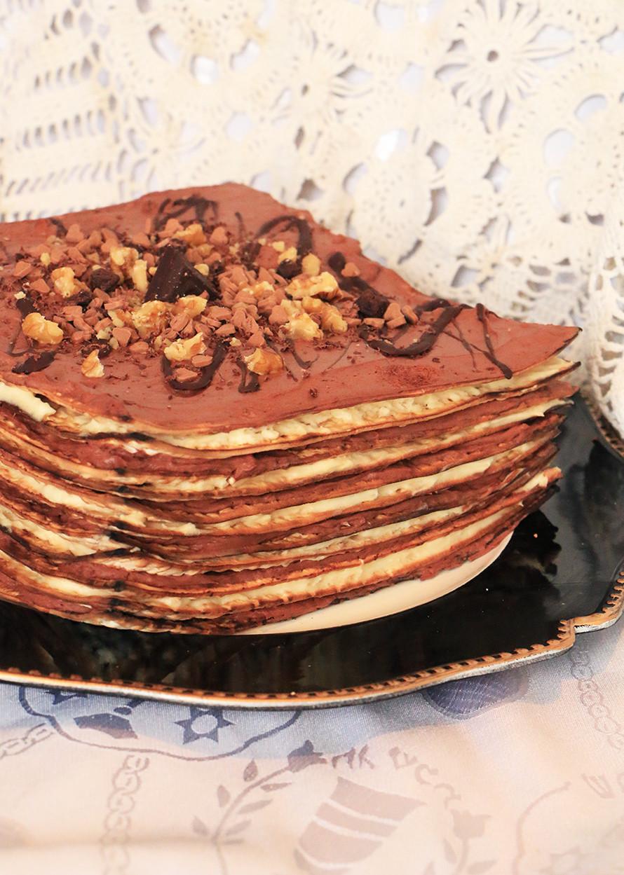 עוגת שכבות לפסח עם קוקוס ושוקולד