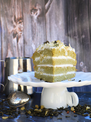 עוגת תה ירוק מאצ'ה  מקמח קוקוס ושקדים ללא גלוטן