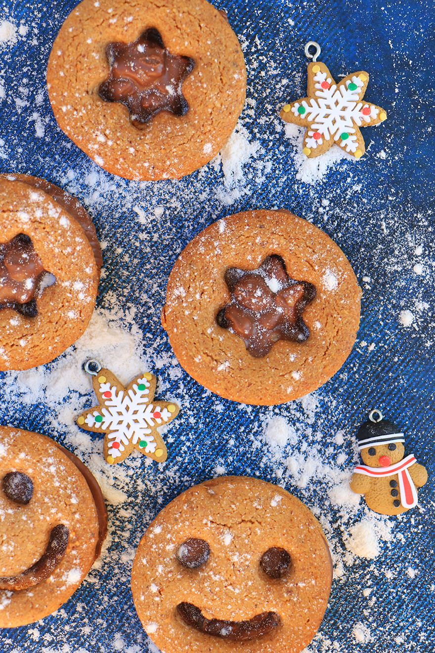 עוגיות ג׳ינג׳ר מאגוזי לוז טחונים