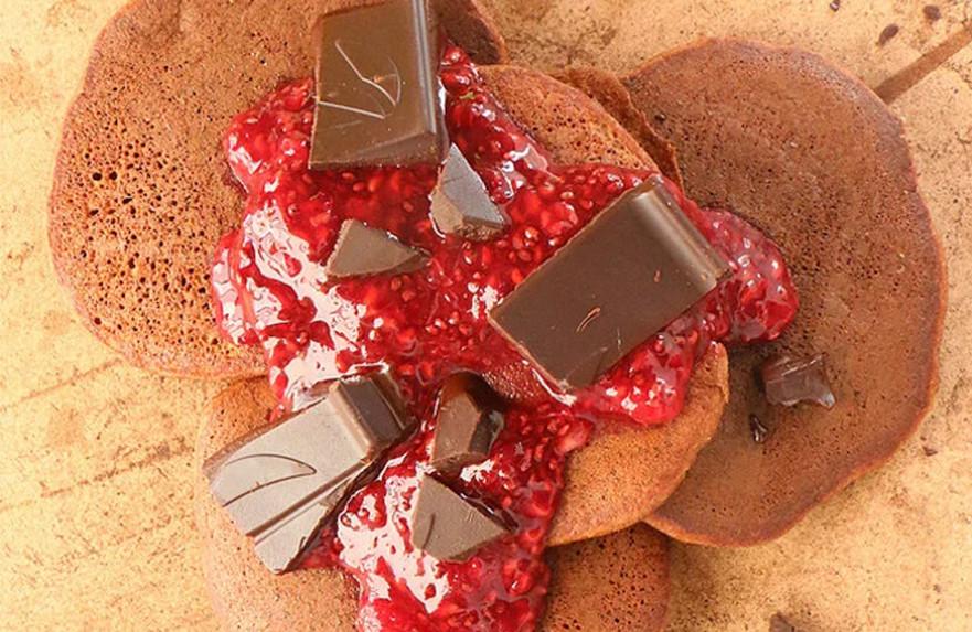 פנקייקס קוקוס שוקולד לפסח ללא גלוטן