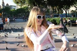 Plaza Catallunia יונים
