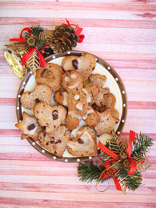 עוגיות ג׳ינג׳ר ושוקולד