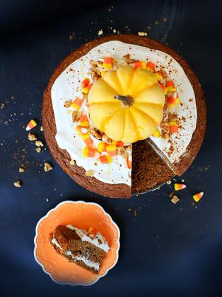 עוגת דלעת וקרם קוקוס