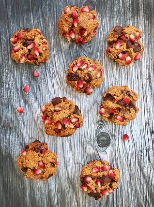 עוגיות רימונים ושוקולד בריאות לראש השנה