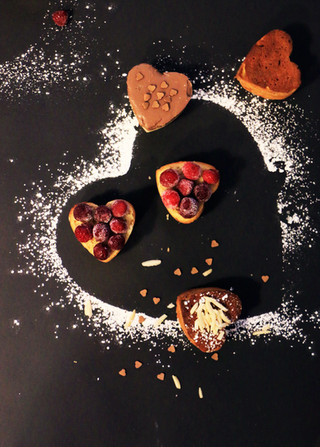 מאפינס שוקולד לבן ליום האהבה