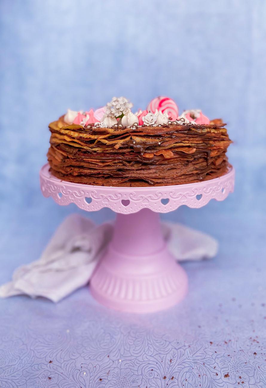 עוגת קרפים שקדים ללא גלוטן מושלמת לפסח
