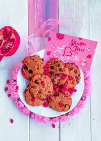 עוגיות רימונים ושוקולד מקמח עדשים