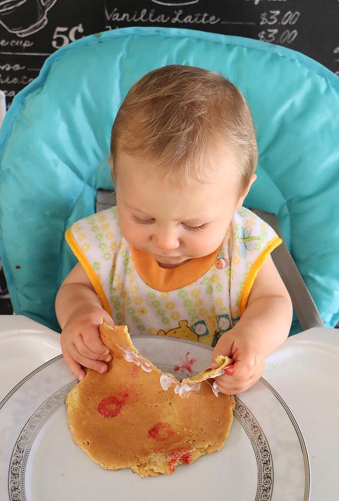פנקייק בננה לתינוקות