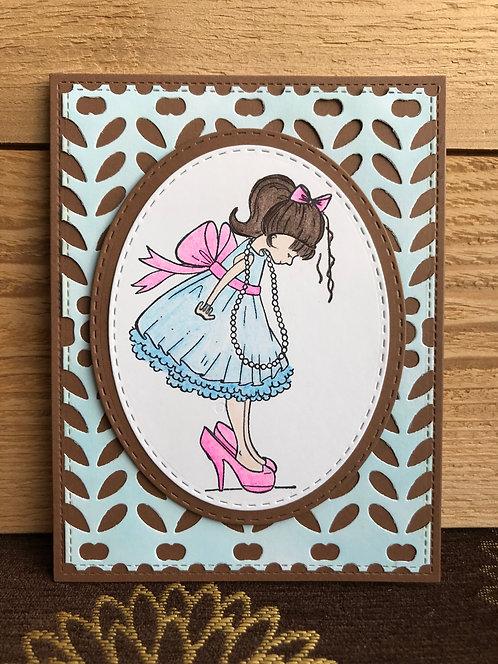 Diva Girl - Greeting Card