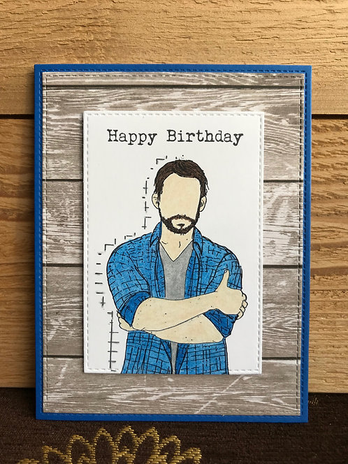 Rustic Man - Greeting Card