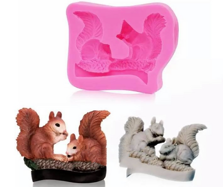 Realistic Squirrel Mold