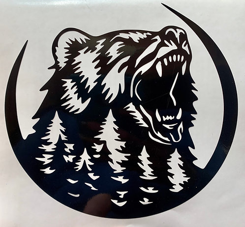 Bear Head Decal