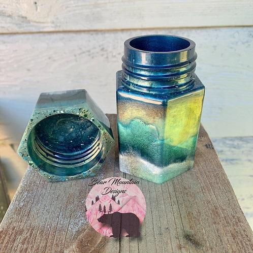 Small Hexagon Jar