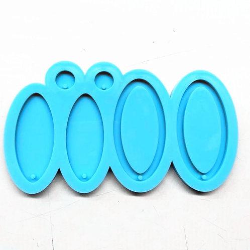 Oval Earring/Keychain