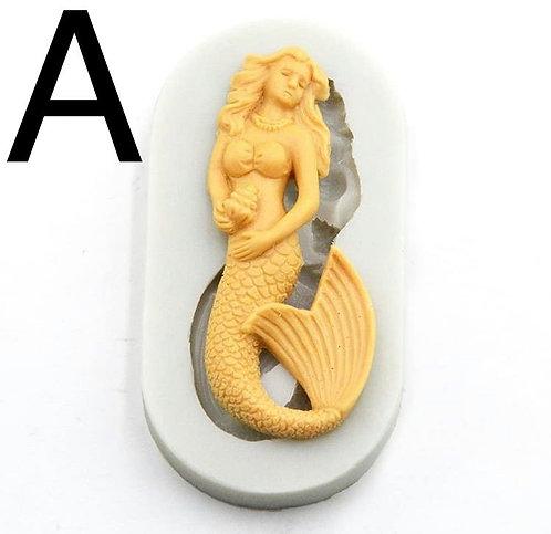 Detailed Mermaid Mold