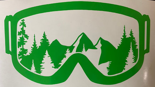 Mountian Goggles Decal