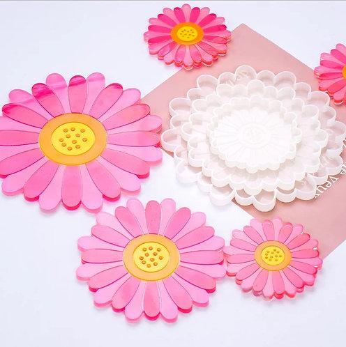 Daisy Coasters - Set of 3