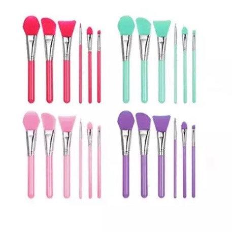 6 Pieces Silicone Brush Set